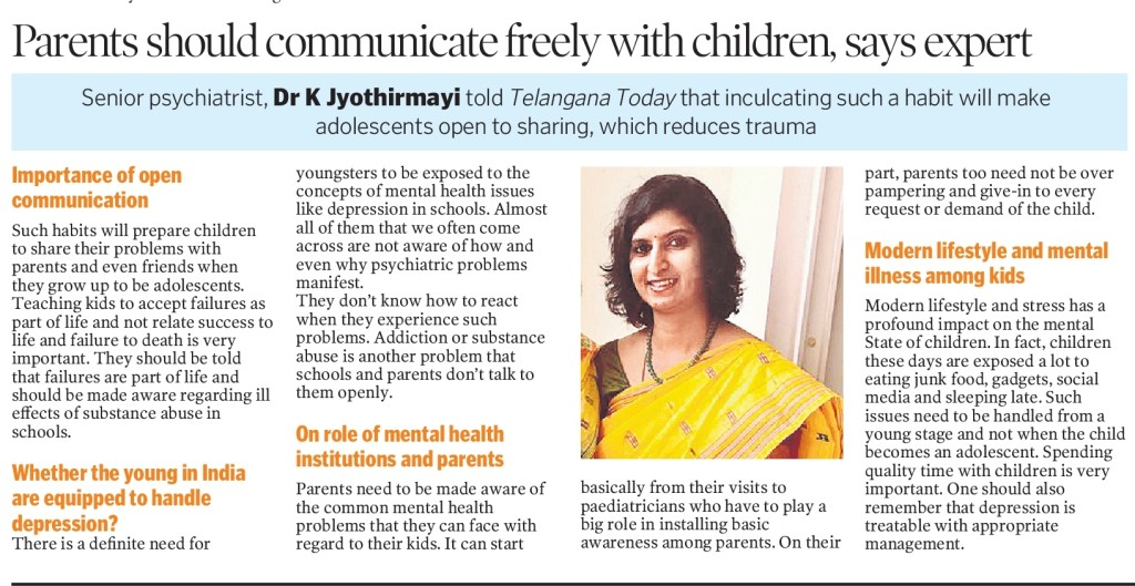 Article about communication between parents and children